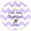 "Pack Baptême Fanions ""Turquoise"""