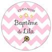 "Magnet ""Baptême"" Rose"