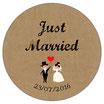 """Le Magnet """"Just Married"""" Vintage"""