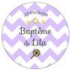 "Magnet ""Baptême"" Lilas"
