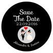 """Le miroir """"Save The Date"""" Noir&Blanc"""