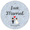 """Le Magnet """"Just Married"""" Liberty bleu"""