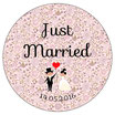 "Le Badge ""Just Married"" Liberty Rose"