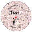 "Le miroir Mariage ""Merci"" Liberty rose"