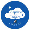"""Les Confettis géants """"Baptême"""" Nuage"""