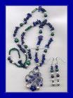 Parure Lapislazuli-Malachit-Perlen