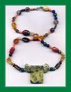 Chakra Buntstein-Halskette gg. Negativität