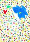 Zentralblume mit Herz und Stern