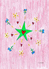 Grüner Stern mit Herz