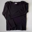 Pointelle Shirt schwarz