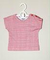 Baby Tee 'Pink Grid'
