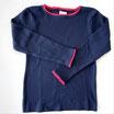 Pointelle Shirt dunkelblau