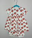 Kleid & Bloomer Set 'Erdbeere'