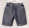 Shorts dunkelblau meliert