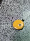Collier solo pointé jaune