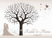 Hochzeitsbaum - Weddingtree Motiv 18 sepia