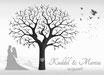 Hochzeitsbaum - Weddingtree Motiv 18.2 schwarz/weiß
