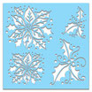 Stencil  Polka Doodles  Poinsettia Holly Cod. PD7449