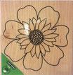 Timbro in legno Fiore