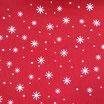 Pannolenci stampato Fiocco Neve Rosso
