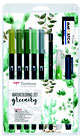 Set Watercoloring Greenery Dual Brush Tombow WCS-GR