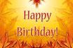 "Prosecco ''Happy Birthday"" gelb"