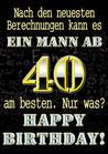 "Fun-Bier ""EIN MANN AB 40"""