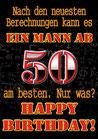 "Fun-Bier ""EIN MANN AB 50"""