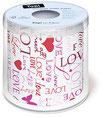 WC-Papier bedruckt ''Love''