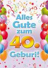 """Fun-Bier """"Alles Gute zum 40. Geburi"""""""""""