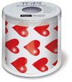 WC-Papier bedruckt ''Herz rot''