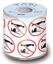 WC-Papier bedruckt ''Steh verbot''