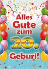 """Fun-Bier """"Alles Gute zum 20. Geburi"""""""""""