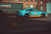 Porsche 997 Sportwagen in GULF Folierung Le Mans Farben Sportwagen Fahrzeug Technik Rennwagen Handschalter 9FF Klappenauspuff Turbos Ladeluftkühler Software Bilstein Fahrwerk OZ Superleggera Felgen