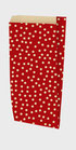 Bolsa sobre regalo kraft reciclado fondo rojo Ref. 162 K 03
