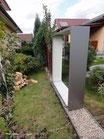 Kaminholzregal 1,9m x 1,5m aus Metall (ohne Dekor)
