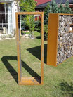 Kaminholzregal 1,9m x 0,6m aus Metall (ohne Dekor)