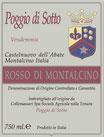 `14 Rosso di Montalcino, Poggio di Sotto, ColleMassari, D.O.C., 13% Vol., 0.75L