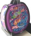 デザイン三線 ジンベイザメ:紫