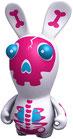 Figurine - Lapins Crétins - Squelette Rose