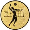 """A1.19 - Emblem """"Volleyball"""" Ø 25mm"""