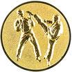 """A11.14 - 3D Emblem """"Karate"""" Ø 25mm"""