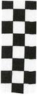 Schwarz - Weiß kariertes Band 22mm
