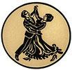 """A1.30 - Emblem """"Tanzen"""" Ø 25mm"""