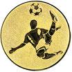 """A1.183 - Emblem """"Fußball"""" Ø 25mm"""