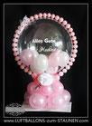 """Geschenkballon Bubble """"Alles Gute zur Hochzeit"""" personalisiert"""