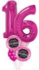 Luftballon Bouquet Happy Birthday  mit Geburtstagszahl