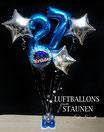 Riesen-Geburtstagszahl mit Sternen