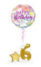 Ballongruß zum Geburtstag: Regenbogen