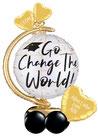 Ballongruß Abitur: Go Change the World!